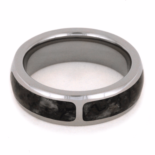 SECTIONED DINOSAUR BONE WEDDING BAND-2035 - Cairo Men's Wedding Rings