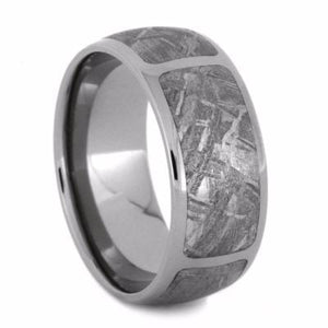 SECTIONED GIBEON METEORITE MEN'S WEDDING BAND-2109 - Cairo Men's Wedding Rings