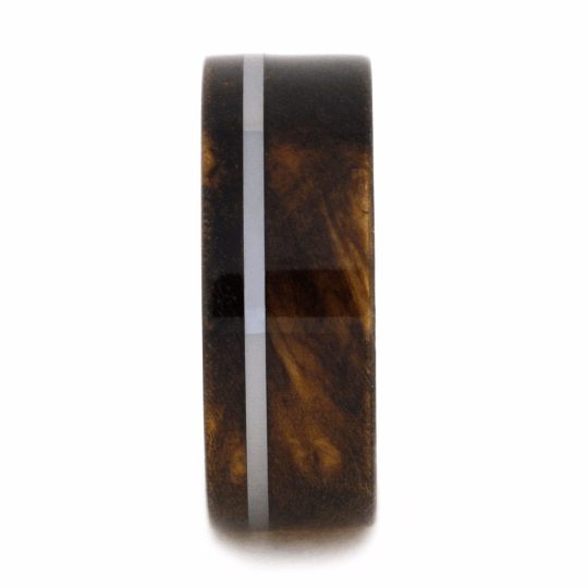 SINDORA WOOD WEDDING BAND IN TUNGSTEN-2062 - Cairo Men's Wedding Rings