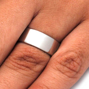 STAINLESS STEEL WEDDING BAND-3201 - Cairo Men's Wedding Rings