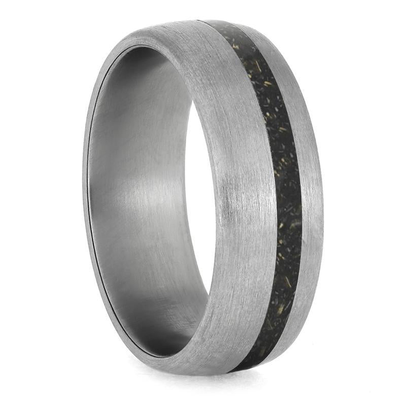 STARDUST RING WITH METEORITE AND GOLD-4234 - Cairo Men's Wedding Rings