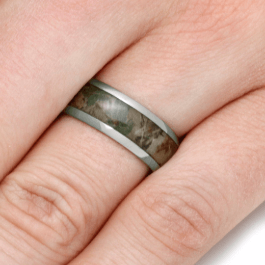TITANIUM RING WITH CAMOUFLAGE-2774 - Cairo Men's Wedding Rings