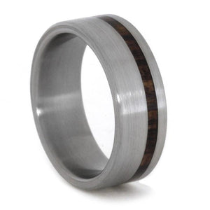 TITANIUM WEDDING BAND WITH KINGWOOD ACCENT-1832 - Cairo Men's Wedding Rings
