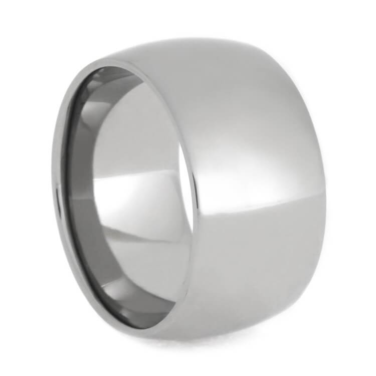 TITANIUM WEDDING BAND WITH REFLECTIVE FINISH-1376 - Cairo Men's Wedding Rings