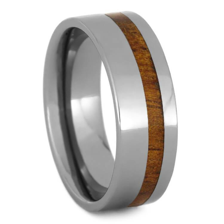 TROPICAL KOA WOOD AND TUNGSTEN WEDDING BAND-2712 - Cairo Men's Wedding Rings