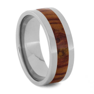 TULIPWOOD AND TITANIUM WEDDING BAND-1051 - Cairo Men's Wedding Rings