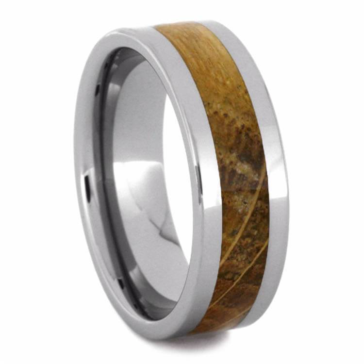 TUNGSTEN BAND WITH WHISKEY BARREL OAK WOOD-2714 - Cairo Men's Wedding Rings