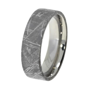 METEORITE MEN'S WEDDING BAND IN TUNGSTEN-1444 - Cairo Men's Wedding Rings
