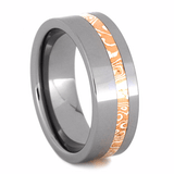 TUNGSTEN RING WITH COPPER AND SILVER MOKUME-2200 - Cairo Men's Wedding Rings