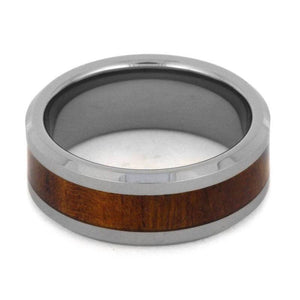 TUNGSTEN WEDDING BAND WITH IRONWOOD INLAY-3186 - Cairo Men's Wedding Rings