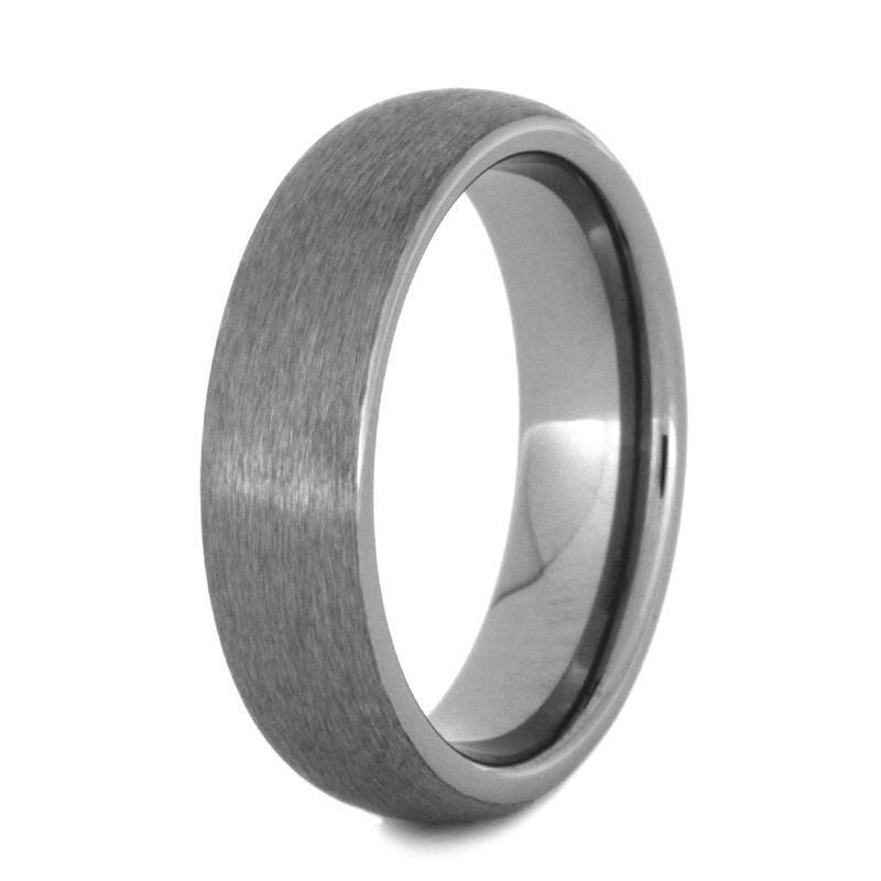 TUNGSTEN RING WITH SATIN FINISH-2786 - Cairo Men's Wedding Rings