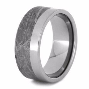 TWO TONE METEORITE WEDDING BAND IN TITANIUM-2101 - Cairo Men's Wedding Rings