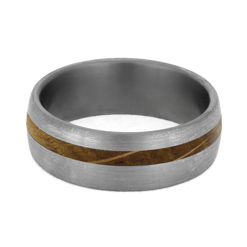 WHISKEY BARREL OAK WOOD MEN'S RING-4226 - Cairo Men's Wedding Rings