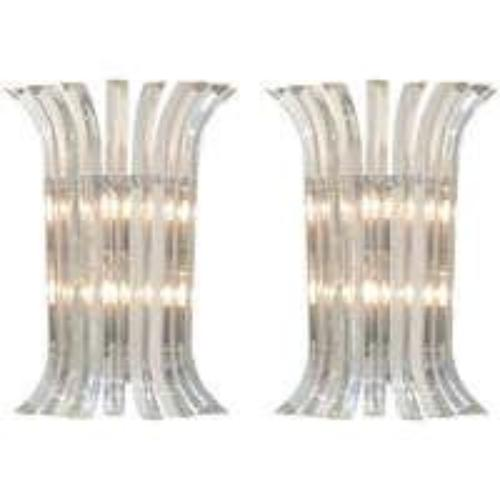 TRIEDRI Wall Sconces by Venini pair