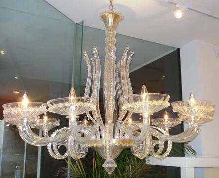ART DECO GOLD CHANDELIER
