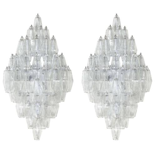 POLYHEDRAL Diamond shape WALL SCONCES  (pairs)  T
