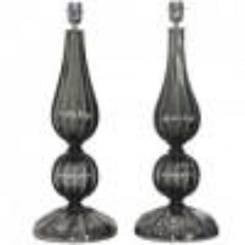 Seguso Designed Table Lamps (pairs)