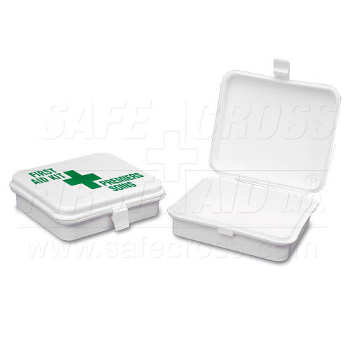 "PLASTIC BOX, PROMO SMALL, w/GSK, w/LABEL, 11.4x10.2x3.2cm (4-1/2""x4""x1-5/16"")"