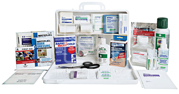 KIT, BURN DELUXE PLUS CHEMICAL BURN, 36 UNIT, PLASTIC BOX