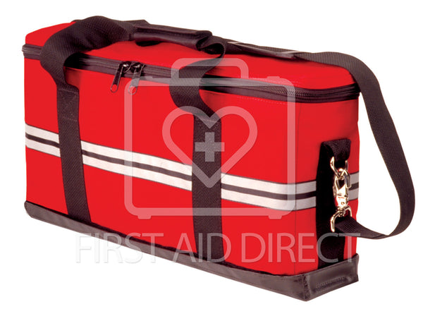 CORDURA TRAUMA BAG FOR OXYGEN CYLINDER & SUCTION UNIT, 55.9 x 29.2 x 14 cm