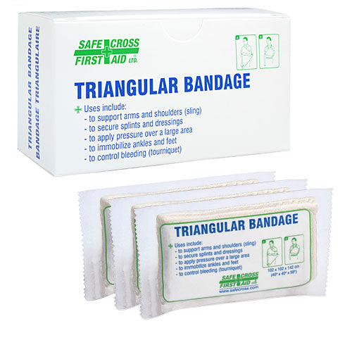 "TRIANGULAR BANDAGE, 101.6 x 101.6 x 142.2 cm, (40"" x 40"" x 56""), COMPRESSED, 3/BOX"
