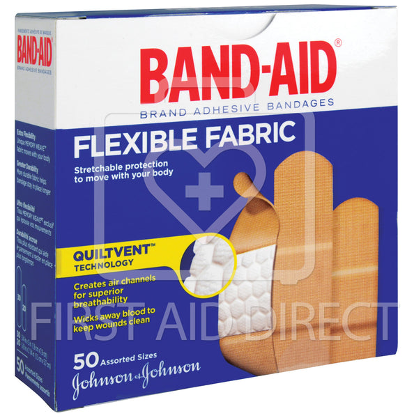 BAND-AID BRAND, FABRIC BANDAGES, ASSORTED, 50's