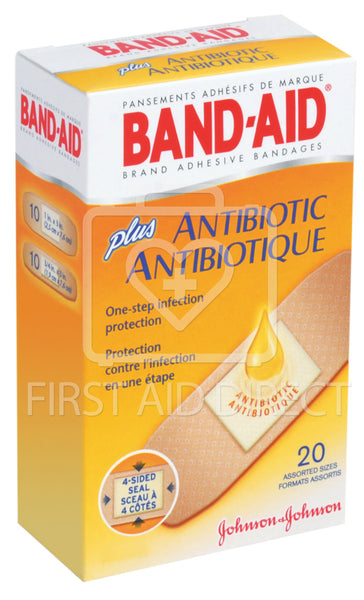 BAND-AID BRAND, ANTIBIOTIC, BANDAGES, 20's