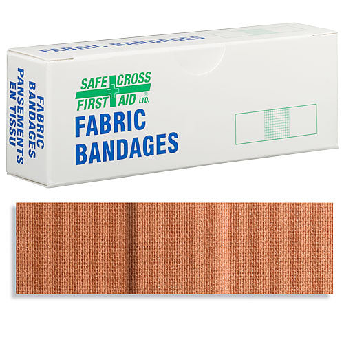 FABRIC BANDAGES, 2.2 x 7.6 cm, HEAVYWEIGHT, 12's