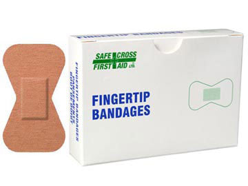 FABRIC BANDAGES, FINGERTIP LARGE, 4.4 x 7.6 cm, HEAVYWEIGHT, 12's