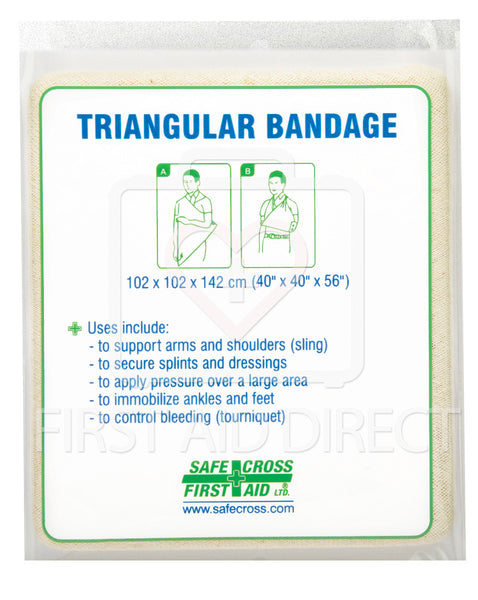 "TRIANGULAR BANDAGE, 101.6 x 101.6 x 142.2 cm, (40"" x 40"" x 56""), NON-COMPRESSED"