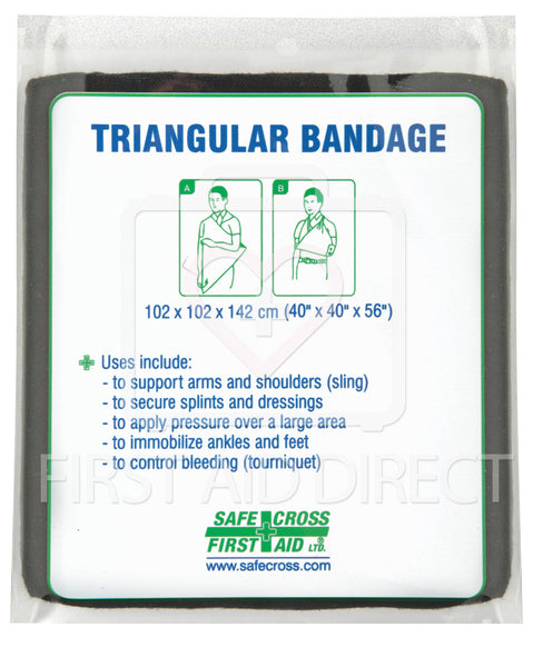 "TRIANGULAR BANDAGE, 101.6x101.6x142.2 cm, (40""x40""x56""),TRAINING, NON-COMPRESSED"