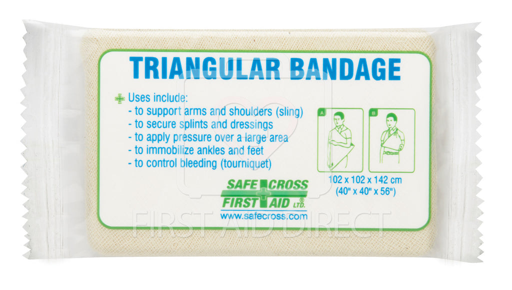 "TRIANGULAR BANDAGE, 101.6 x 101.6 x 142.2 cm (40"" x 40"" x 56""), COMPRESSED"