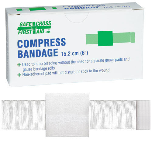 "COMPRESS BANDAGE, 15.2 x 15.2 cm (6"" x 6""), 1/BOX"