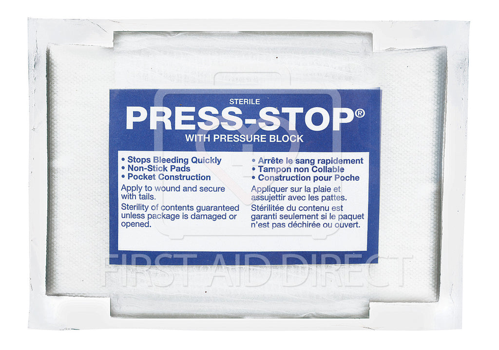 COMPRESS BANDAGE, PRESS-STOP, 11.4 x 15.2 cm