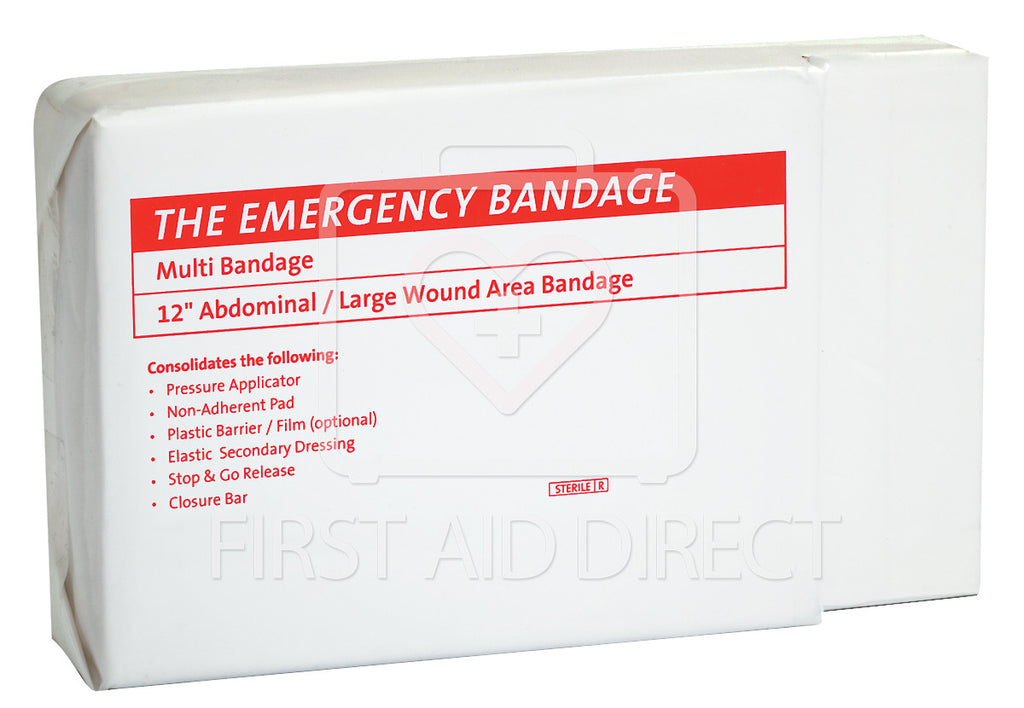 COMPRESS BANDAGE, EMERGENCY ABDOMINAL BANDAGE PLUS, 30.5 cm