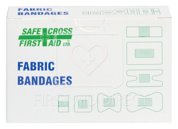 FABRIC BANDAGES, ASSORTED SIZES, HEAVYWEIGHT, 25's