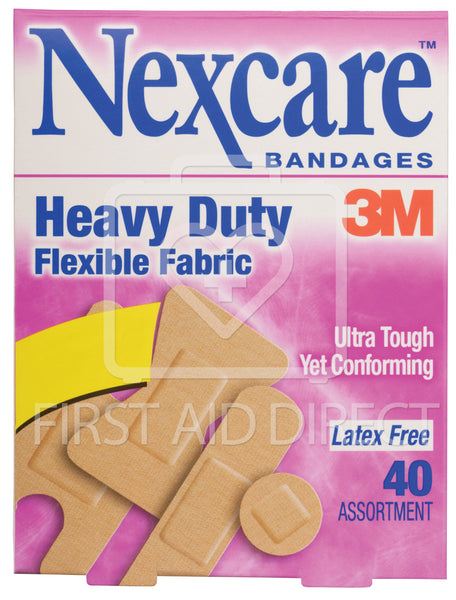 NEXCARE, HEAVY DUTY FABRIC BANDAGES, ASSORTED, 40's