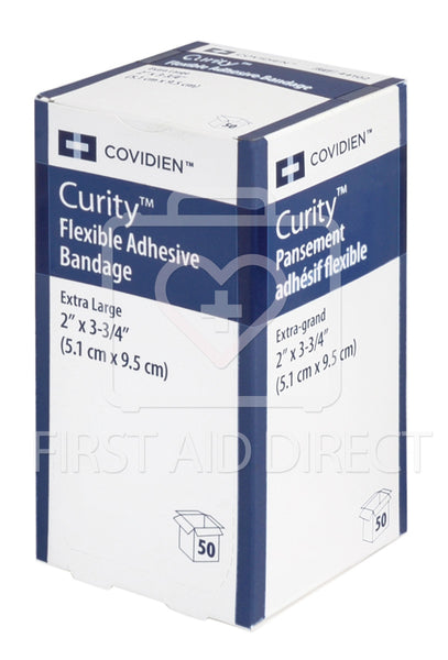 CURITY, FABRIC BANDAGES, EXTRA-LARGE, 5.1 x 9.5 cm, LIGHTWEIGHT, 50's