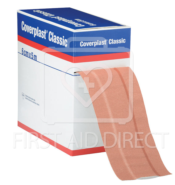 COVERPLAST, FABRIC DRESSING STRIP, 6 cm x 5 m, HEAVYWEIGHT