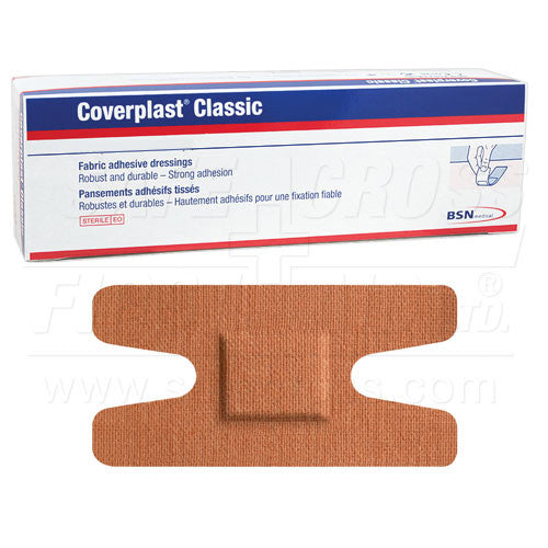 COVERPLAST, FABRIC BANDAGES, KNUCKLE, 3.8 x 7.2 cm, HEAVYWEIGHT, 100's