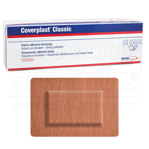 COVERPLAST, FABRIC BANDAGES, LARGE PATCH, 5.1 x 7.2 cm, HEAVYWEIGHT, 100's