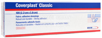 COVERPLAST, FABRIC BANDAGES, 2.2 x 3.8 cm, HEAVYWEIGHT, 100's