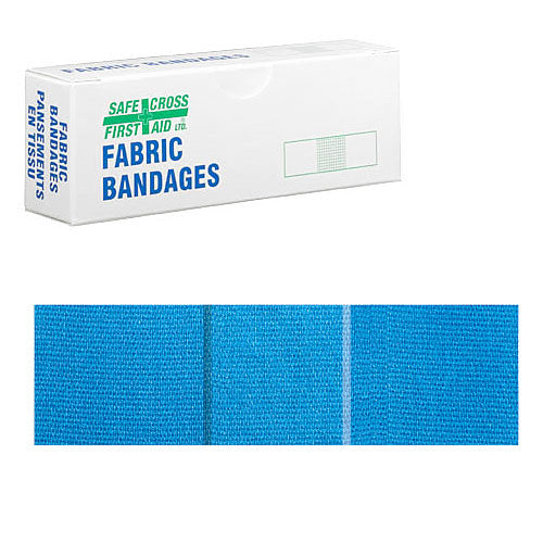 FABRIC DETECTABLE BANDAGES, 2.2 x 7.6 cm, LIGHTWEIGHT, 12's