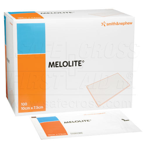MELOLITE, LOW-ADHERENT DRESSINGS, 7.6 x 10.2 cm, 100's, STERILE