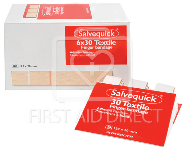SALVEQUICK, FABRIC BANDAGE REFILLS, EXTRA-LONG, 6 x 30's