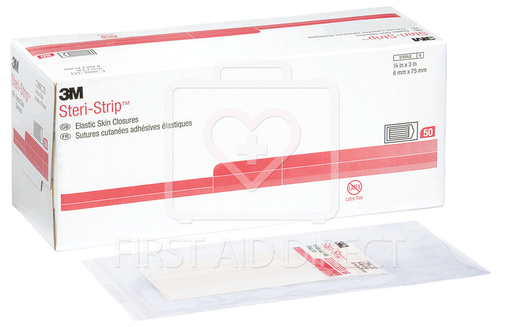 STERI-STRIP, ELASTIC SKIN CLOSURES, 6 mm x 7.6 cm, 50 x 3's
