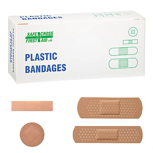 PLASTIC BANDAGES, ASSORTED SIZES, 50's