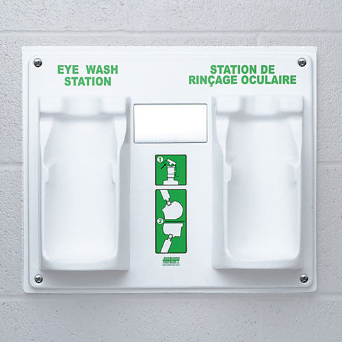EYE WASH STATION, DOUBLE PLAQUE ONLY w/EYE WASH LABEL