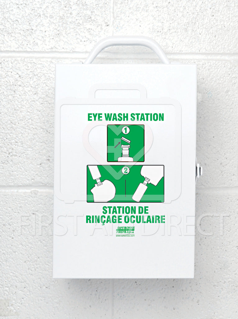 EYE WASH METAL STATION, w/1 x 1 L EYE WASH