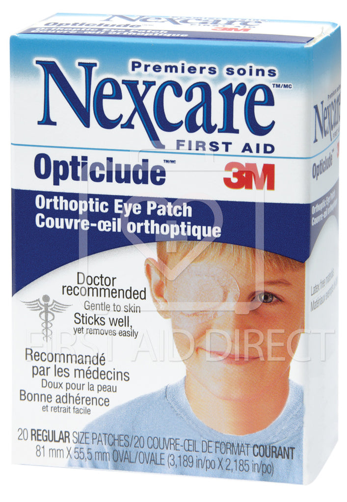 NEXCARE, OPTICLUDE ORTHOPTIC EYE PATCH, 8.3 x 5.7 cm, 20's